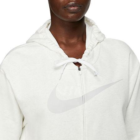 Nike Knit Midweight Swoosh Fleece Jacket, X-large , White