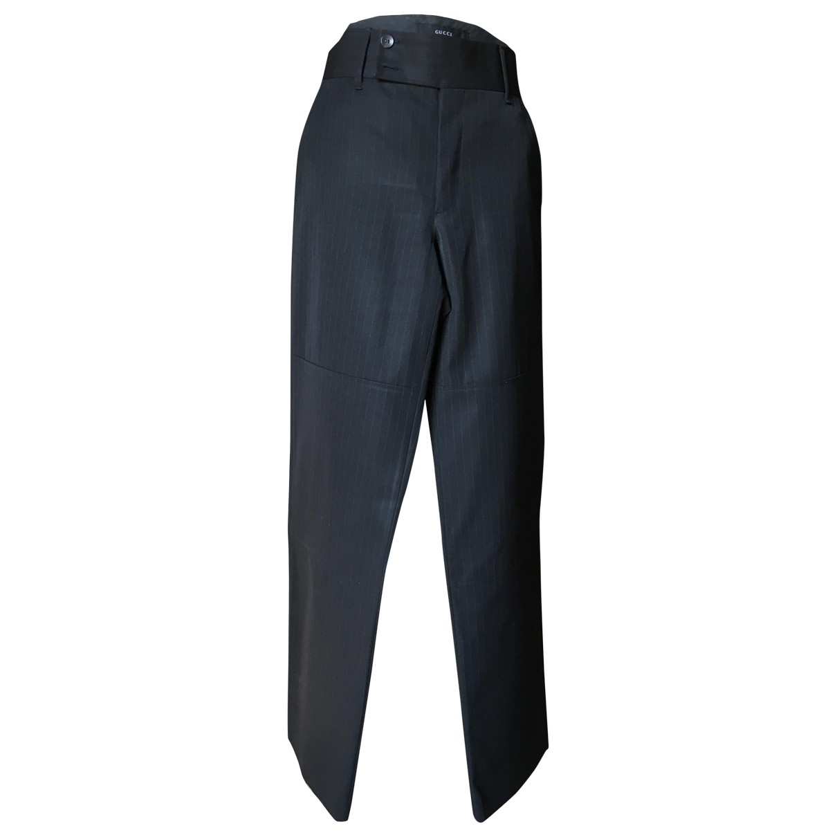 Gucci \N Black Wool Trousers for Women 42 IT
