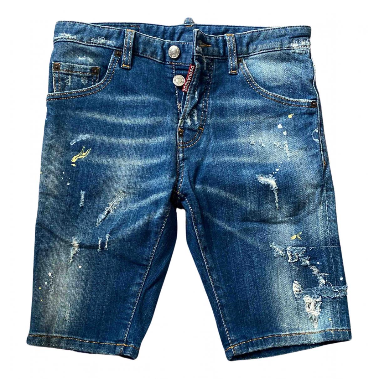 Dsquared2 - Short   pour enfant en denim - bleu