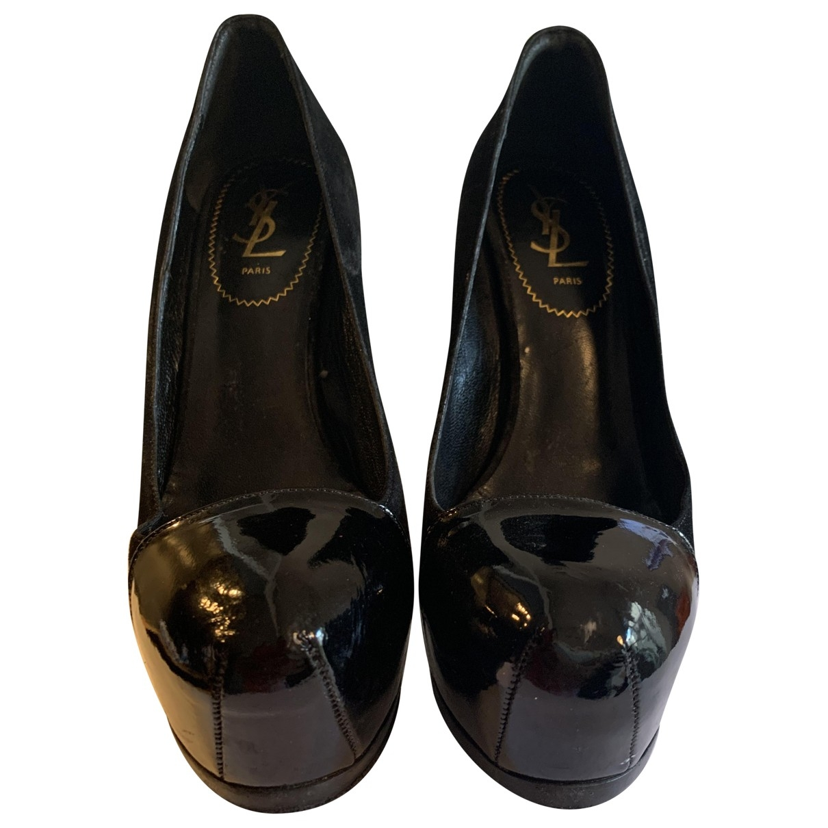 Tacones Trib Too de Cuero Yves Saint Laurent