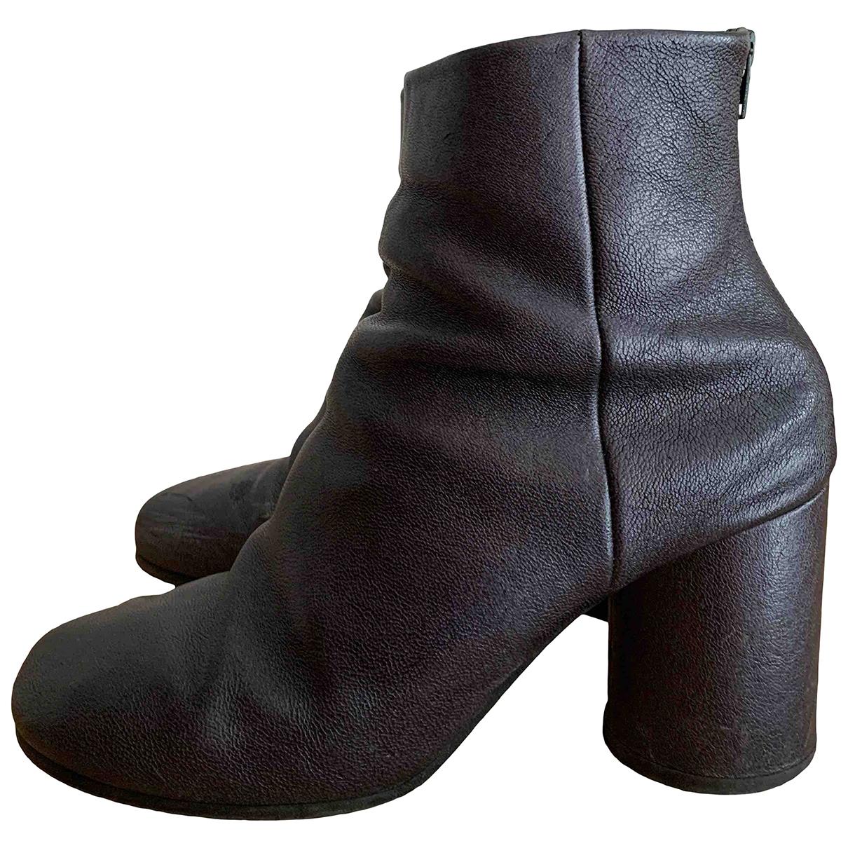 Maison Martin Margiela - Boots   pour femme en cuir - marine