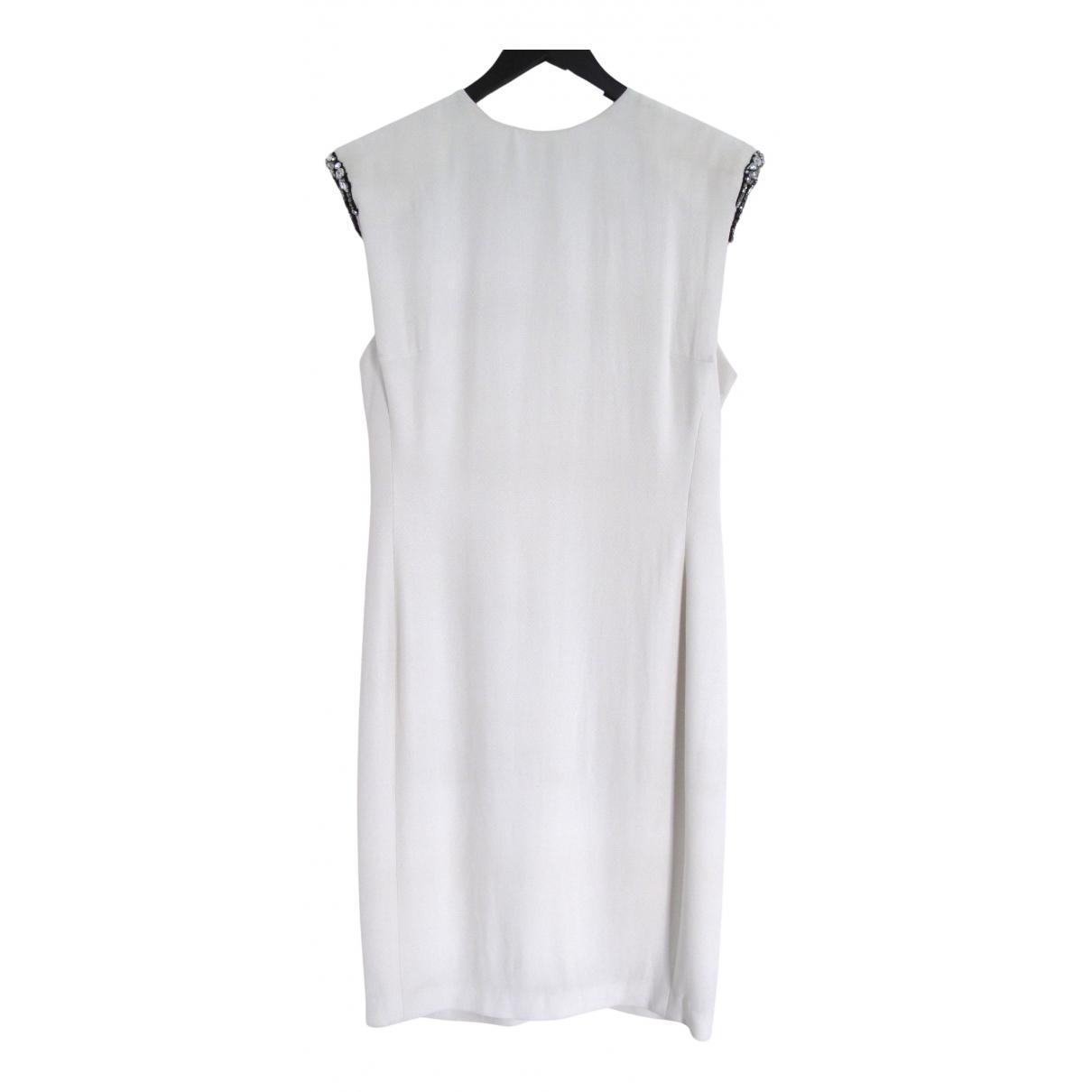 Lanvin \N Kleid in  Weiss Seide