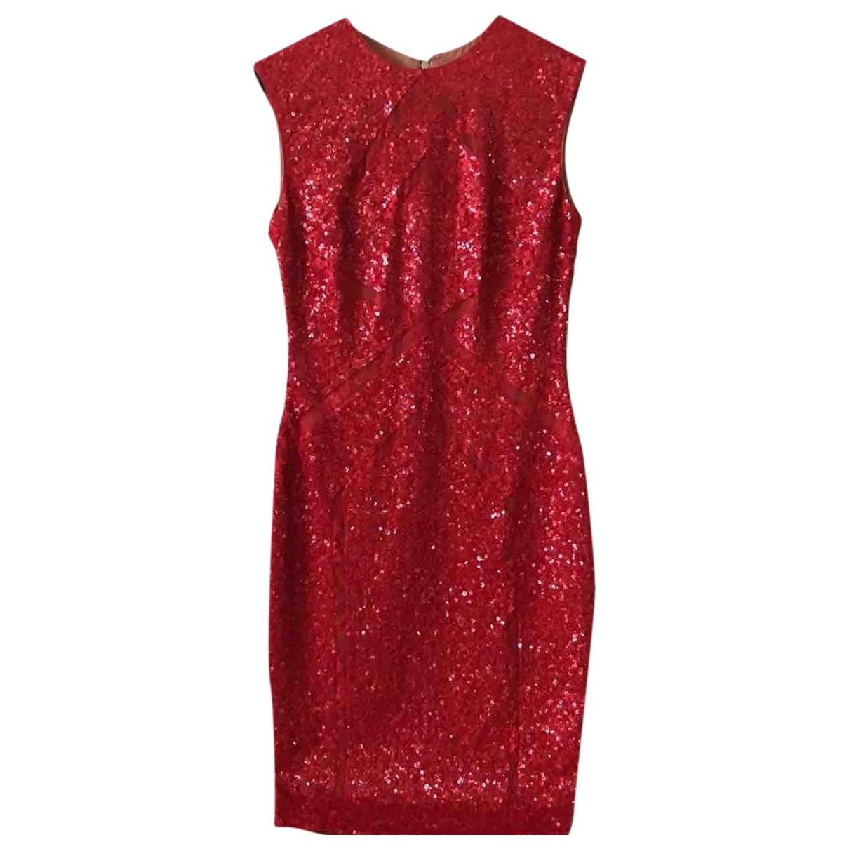 Elie Saab \N Kleid in  Rot Mit Pailletten