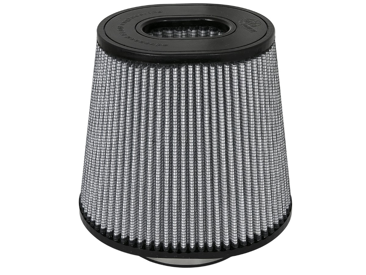 aFe Magnum FLOW Intake Replacement Air Filter w/ Pro DRY S Media 4-1/2 F x (9x7-1/2) B x (6-3/4x5-1/2) T (Inverted) x 9 H IN