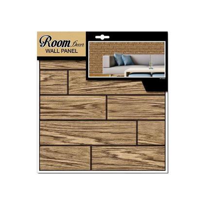 iDesign Wall Decals, 3D Tile, Walnut Woodgrain, 11.8x11.8