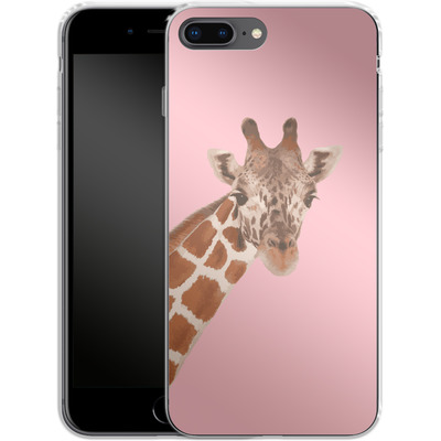 Apple iPhone 7 Plus Silikon Handyhuelle - Giraffe Pride von Mukta Lata Barua