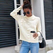 Appliques & Pompom Detail Sweater