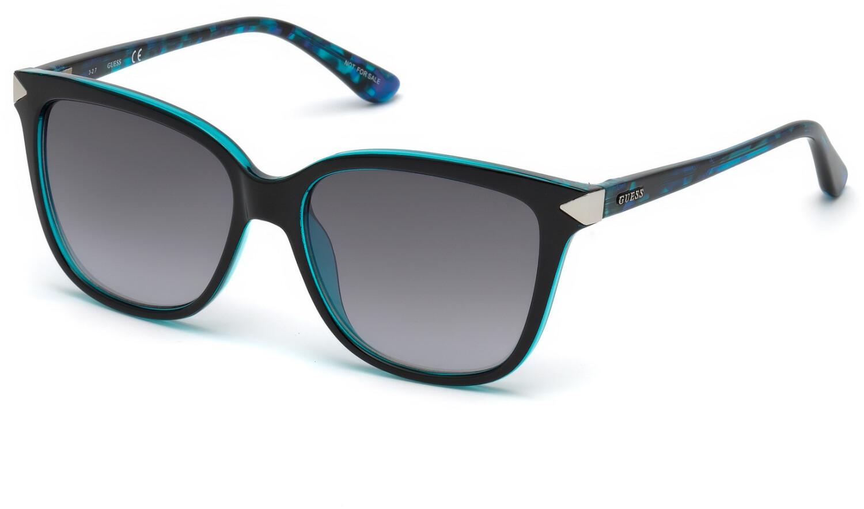 Guess Women's Gradient Gu7551 GU7551-90B-56 Blue Rectangle Sunglasses