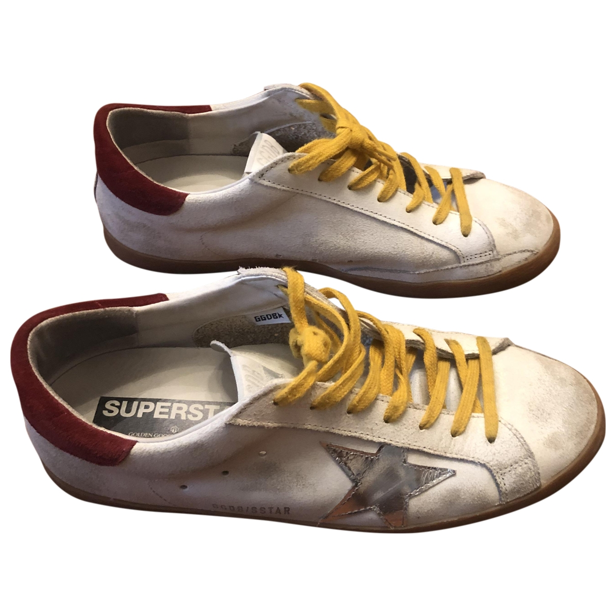 Golden Goose Superstar White Leather Trainers for Men 42 EU