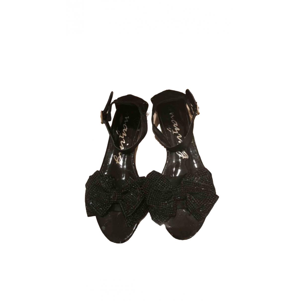 Non Signe / Unsigned \N Ballerinas in  Schwarz Polyester