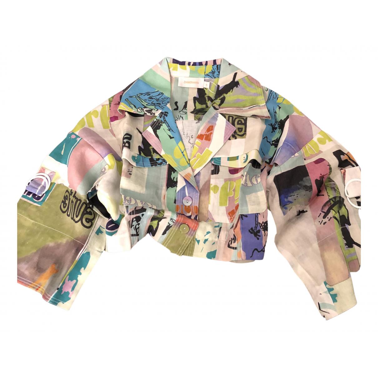 Zimmermann - Top   pour femme en lin - multicolore
