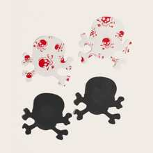 2pairs Pirate Skull Shaped Nipple Cover