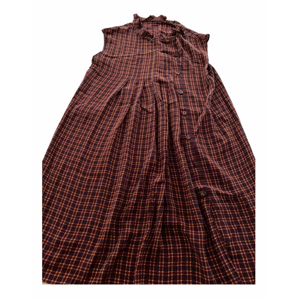 Prada - Robe   pour femme en soie - marron