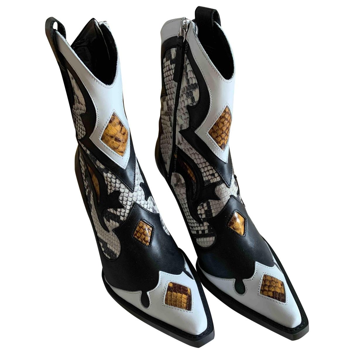 Zara - Boots   pour femme en cuir