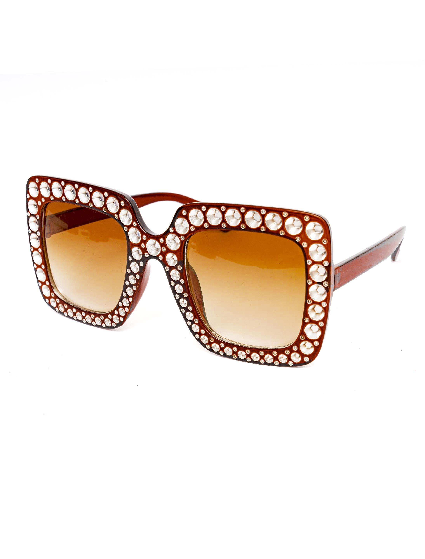 Kostuemzubehor Brille eckig braun