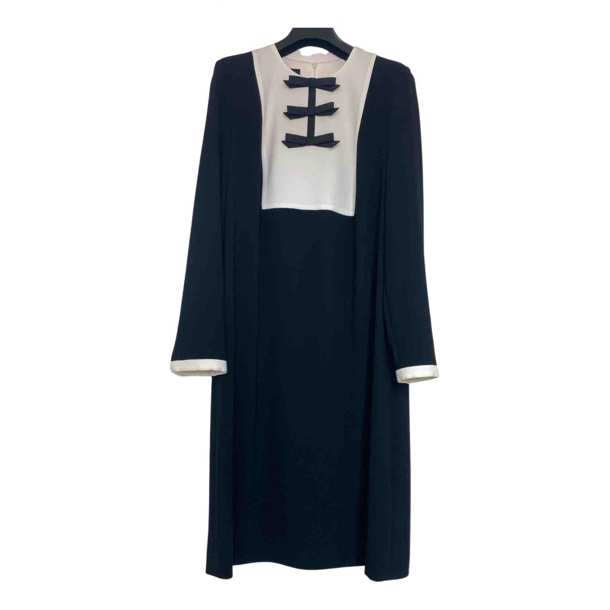 Escada \N Kleid in  Schwarz Tweed