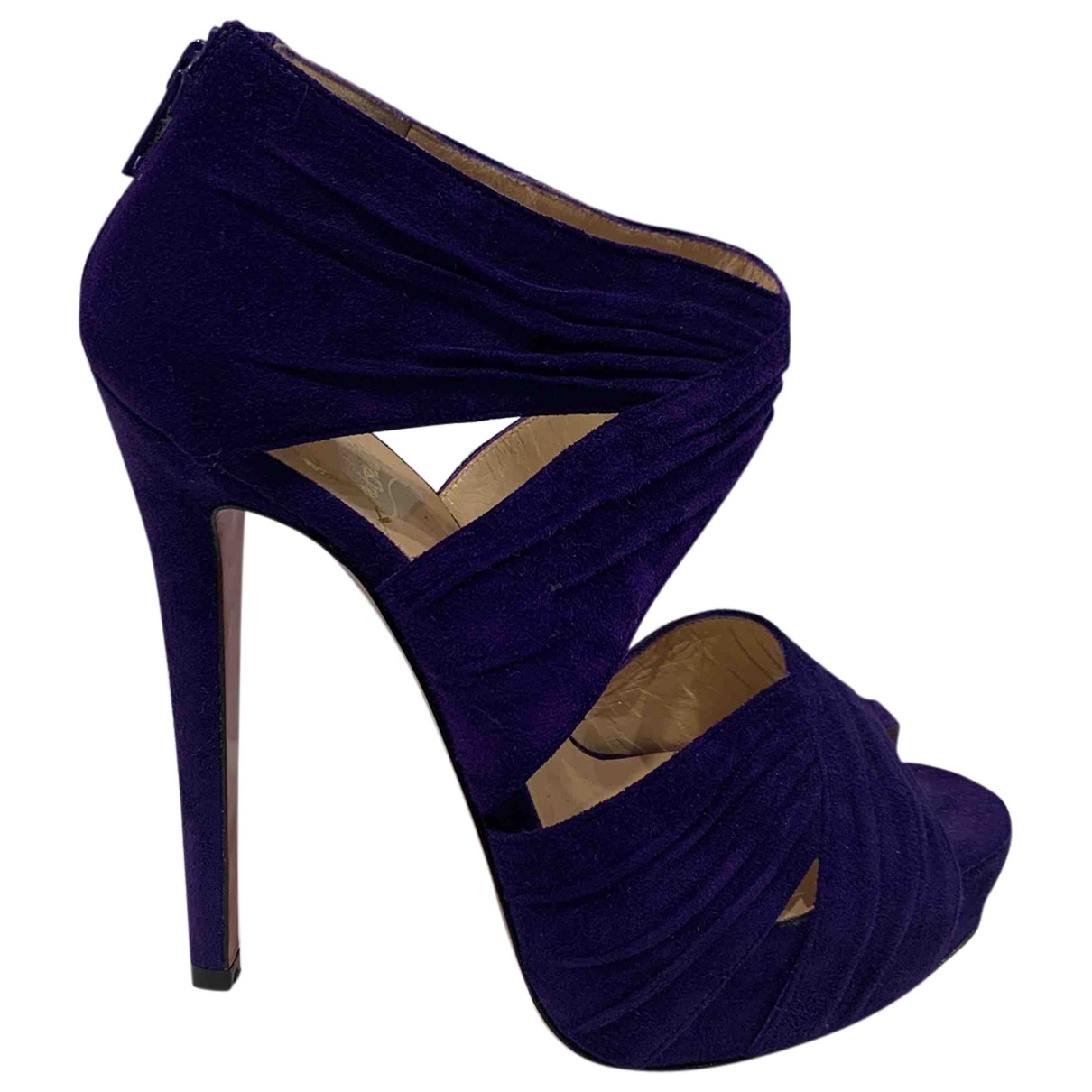 Christian Louboutin \N Purple Suede Sandals for Women 35 EU