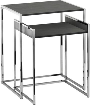 WK2090-10 Ryder Nesting Tables with Grey and Chrome