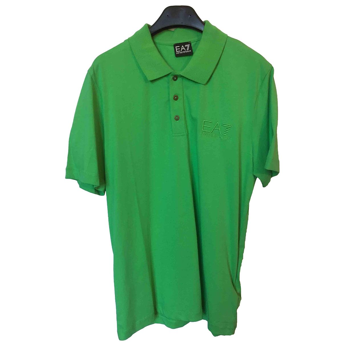 Emporio Armani \N Poloshirts in  Gruen Baumwolle