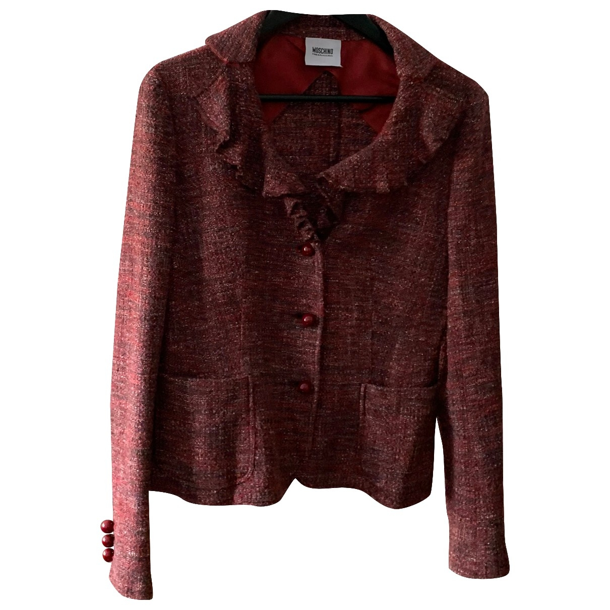 Moschino Cheap And Chic \N Jacke in  Rot Wolle