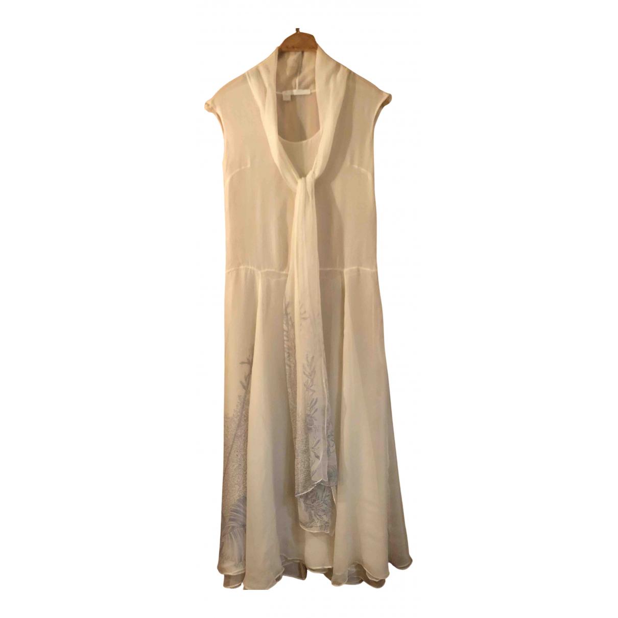 Bamford England \N Kleid in  Ecru Seide