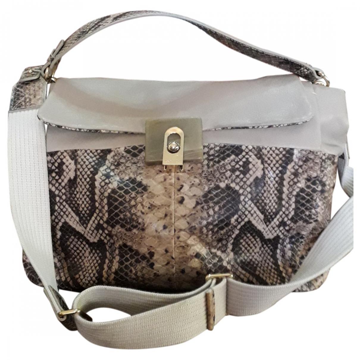 Lanvin \N Anthracite Leather handbag for Women \N