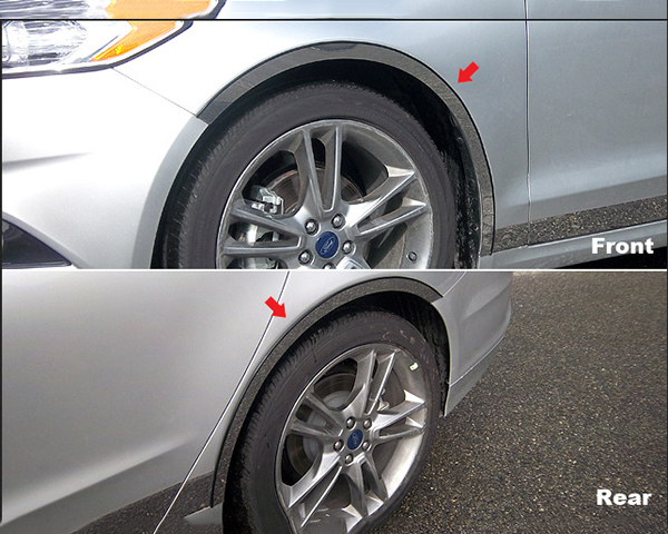 Quality Automotive Accessories 4-Piece Stainless Steel Wheel Well Fender Trim Kit Ford Fusion 2013