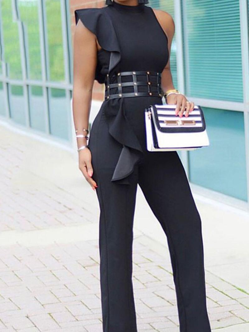 Ericdress Asymmetric Full Length Slim Straight Jumpsuit
