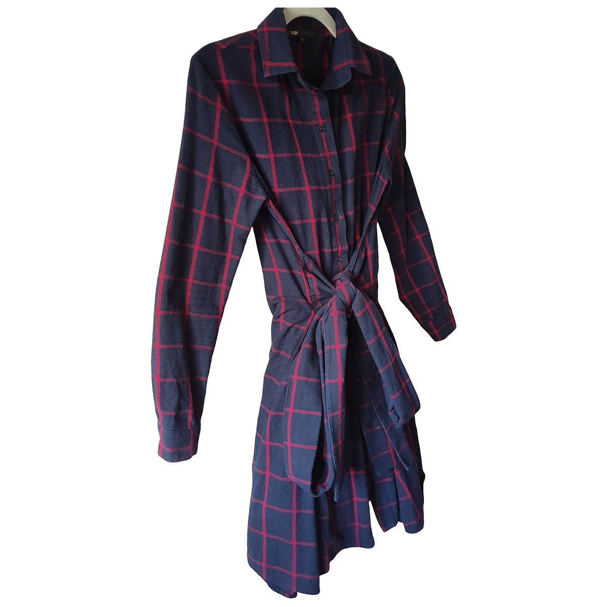 Maje - Robe   pour femme en coton - marine