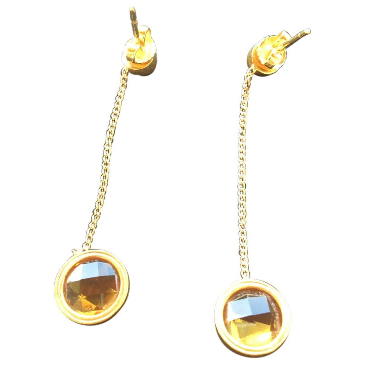 Non Signé / Unsigned \N Yellow Yellow gold Earrings for Women \N