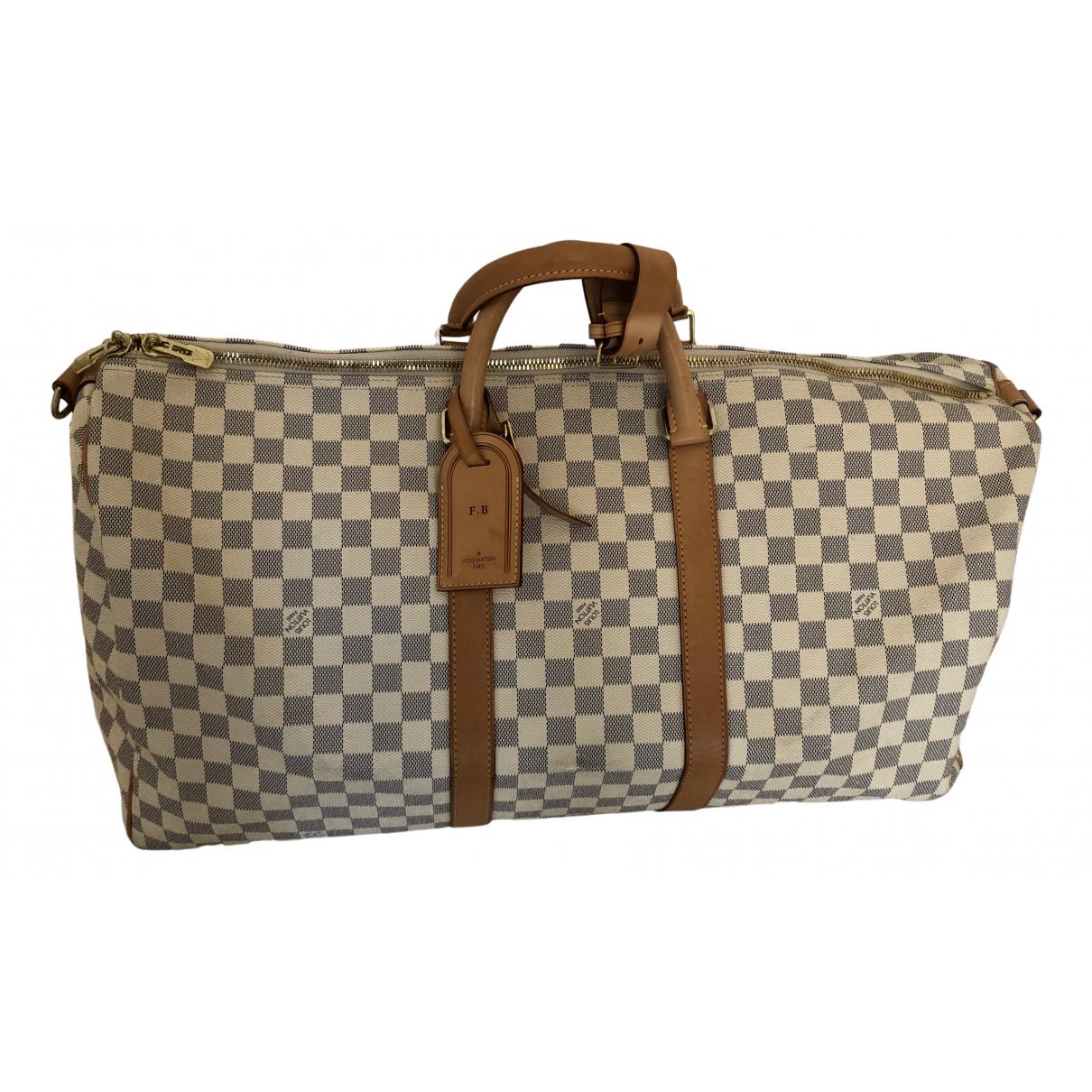 Louis Vuitton Keepall White Cloth bag for Men N