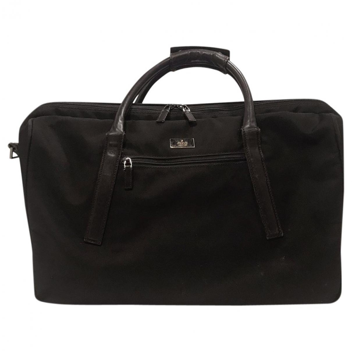 Gucci \N Brown Cloth bag for Men \N