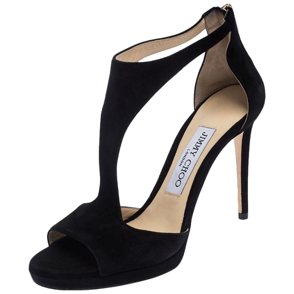 Jimmy Choo \N Black Suede Sandals for Women 35 EU