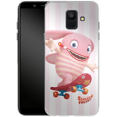Samsung Galaxy A6 Silikon Handyhuelle - Sorgenfresser Pomm von Sorgenfresser