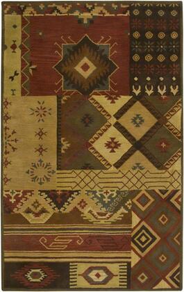 SOWSU1519001208RD Southwest SU1519-8 x 8 Hand-Tufted 100% Wool Rug in Brown  Round