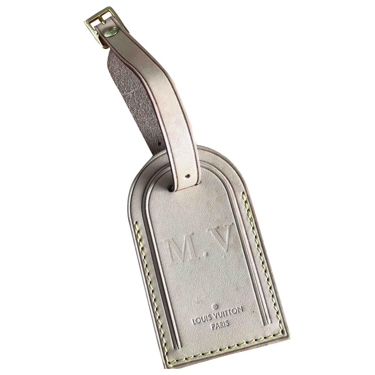 Louis Vuitton Porte adresse Kleinlederwaren in  Beige Leder
