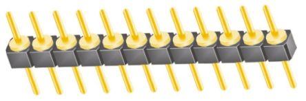 Samtec , TS, 12 Way, 1 Row, Straight Pin Header