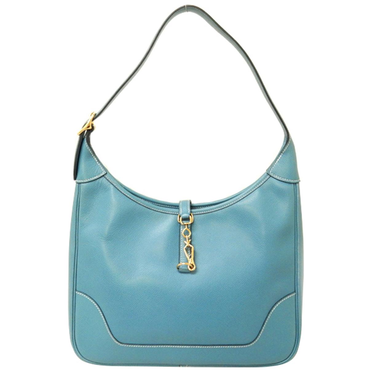Hermes Trim Handtasche in  Blau Leder