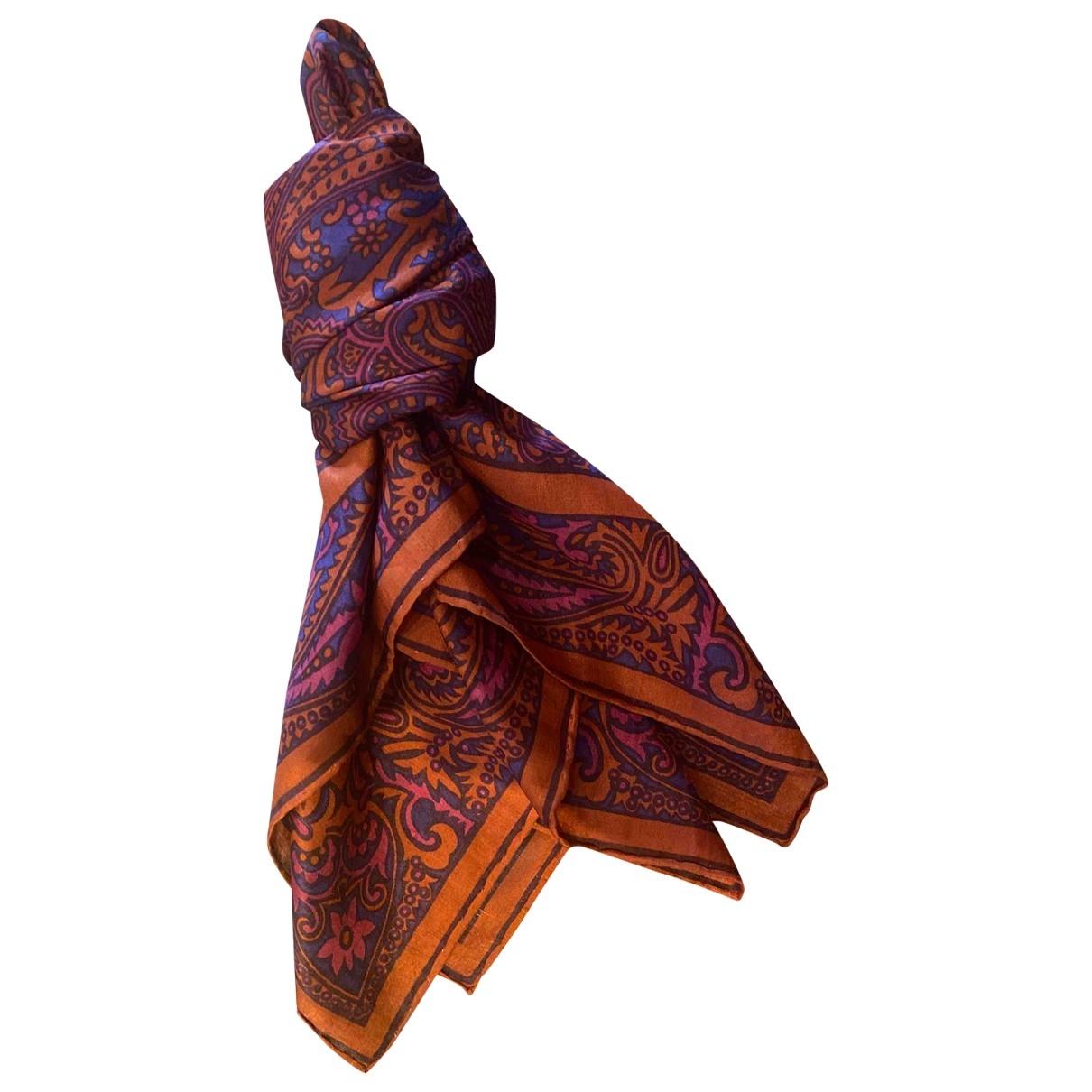 Jaeger - Foulard   pour femme en soie - rouge