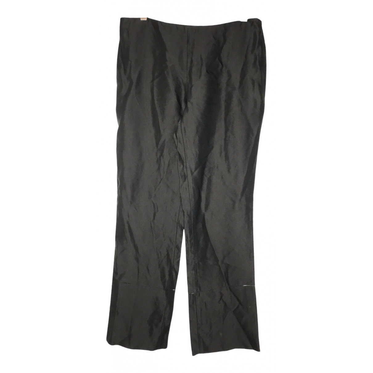 The Row \N Black Silk Trousers for Women 4 US