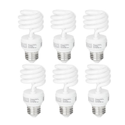 Non-Dimmable CFL Bulb 13W 60W Equivalent E26 2700K Warm White 900 Lumens - 6/Pack