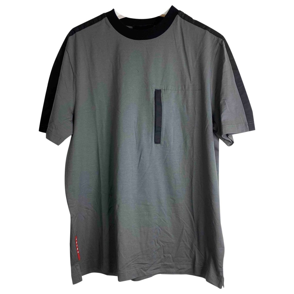 Prada \N Grey Cotton T-shirts for Men S International