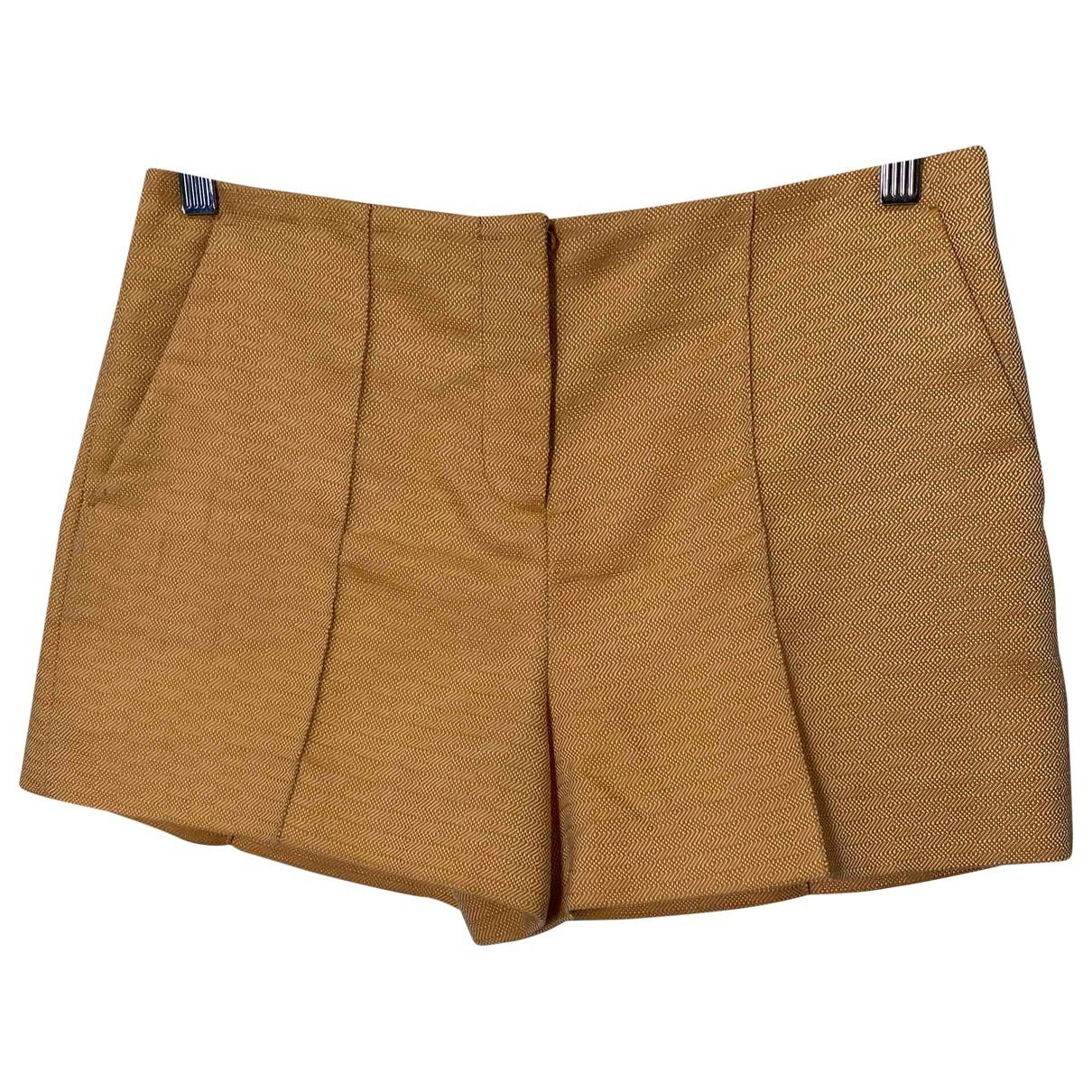 Miu Miu \N Shorts in  Kamel Polyester