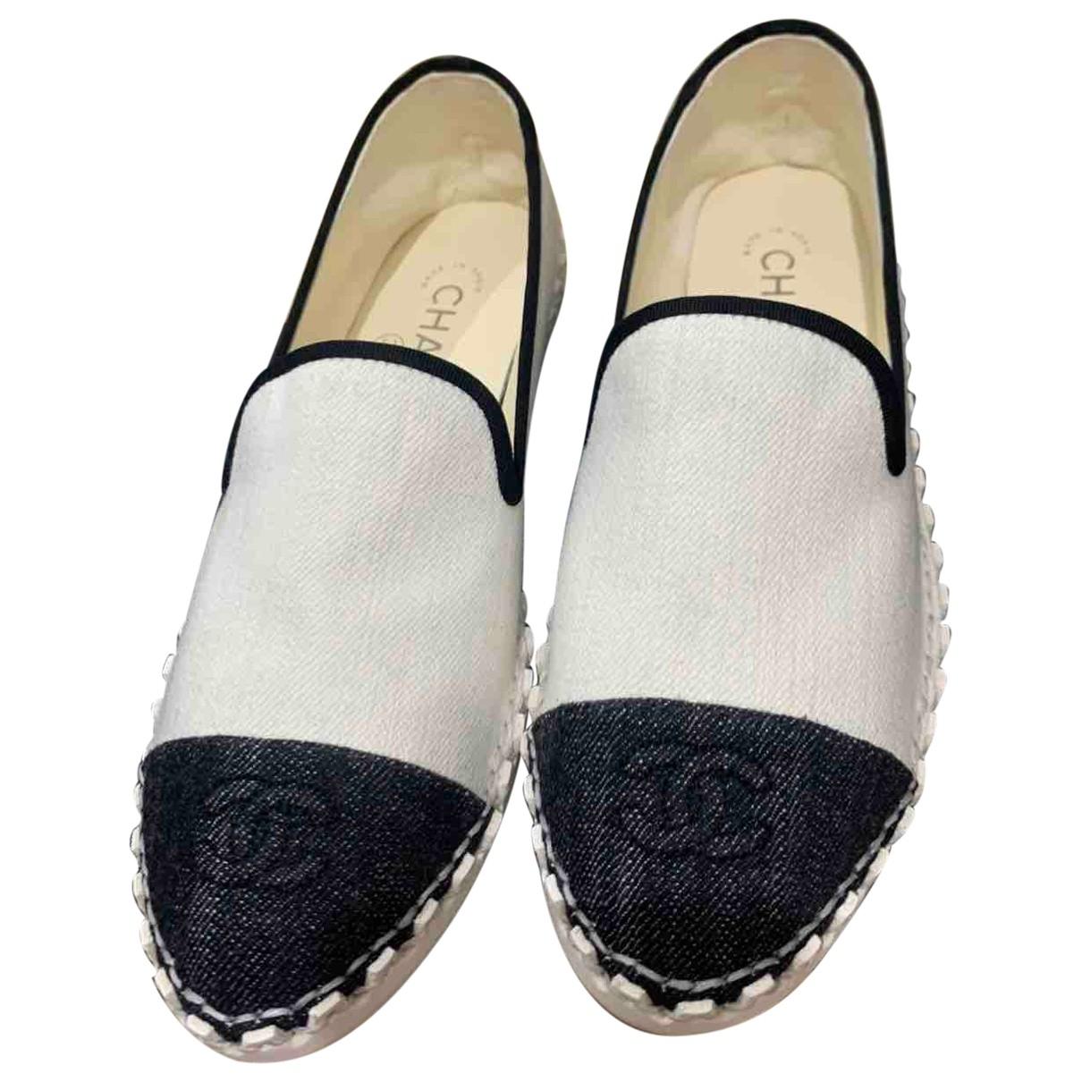 Chanel \N Espadrilles in  Weiss Denim - Jeans