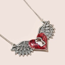 Heart & Wing Charm Necklace
