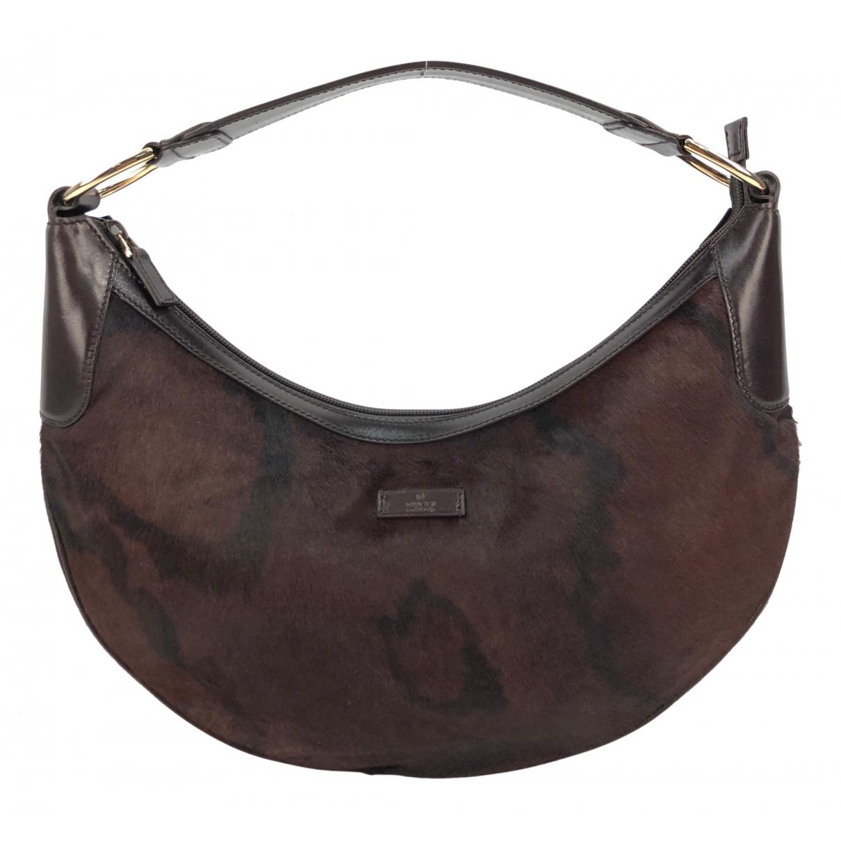 Gucci N Brown Pony-style calfskin handbag for Women N