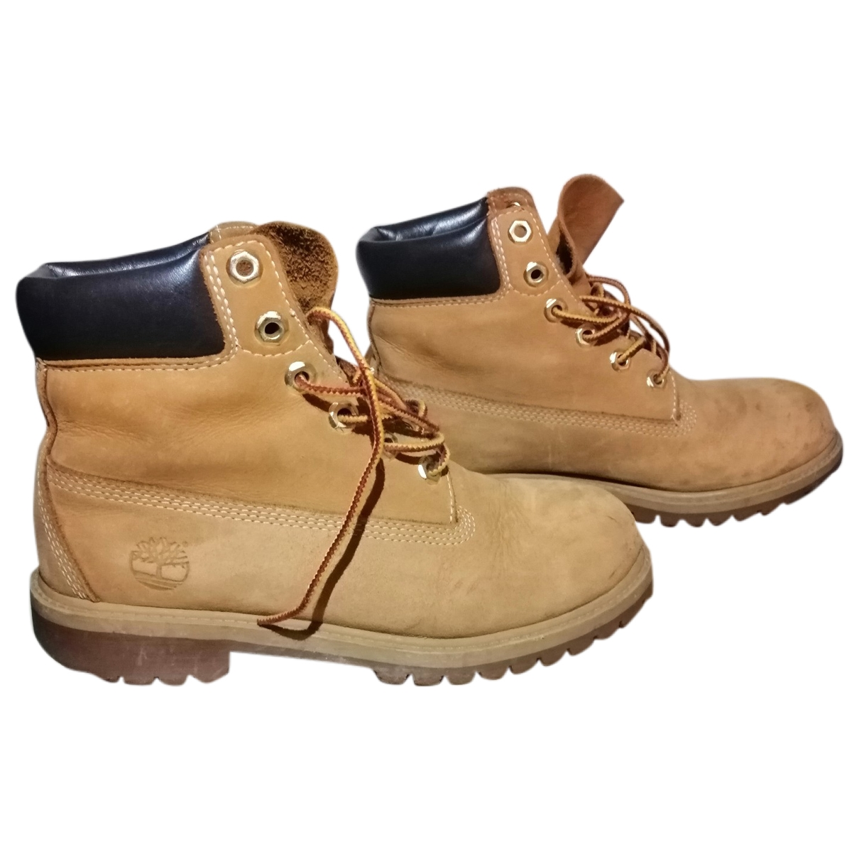 Timberland - Boots   pour femme en suede - camel