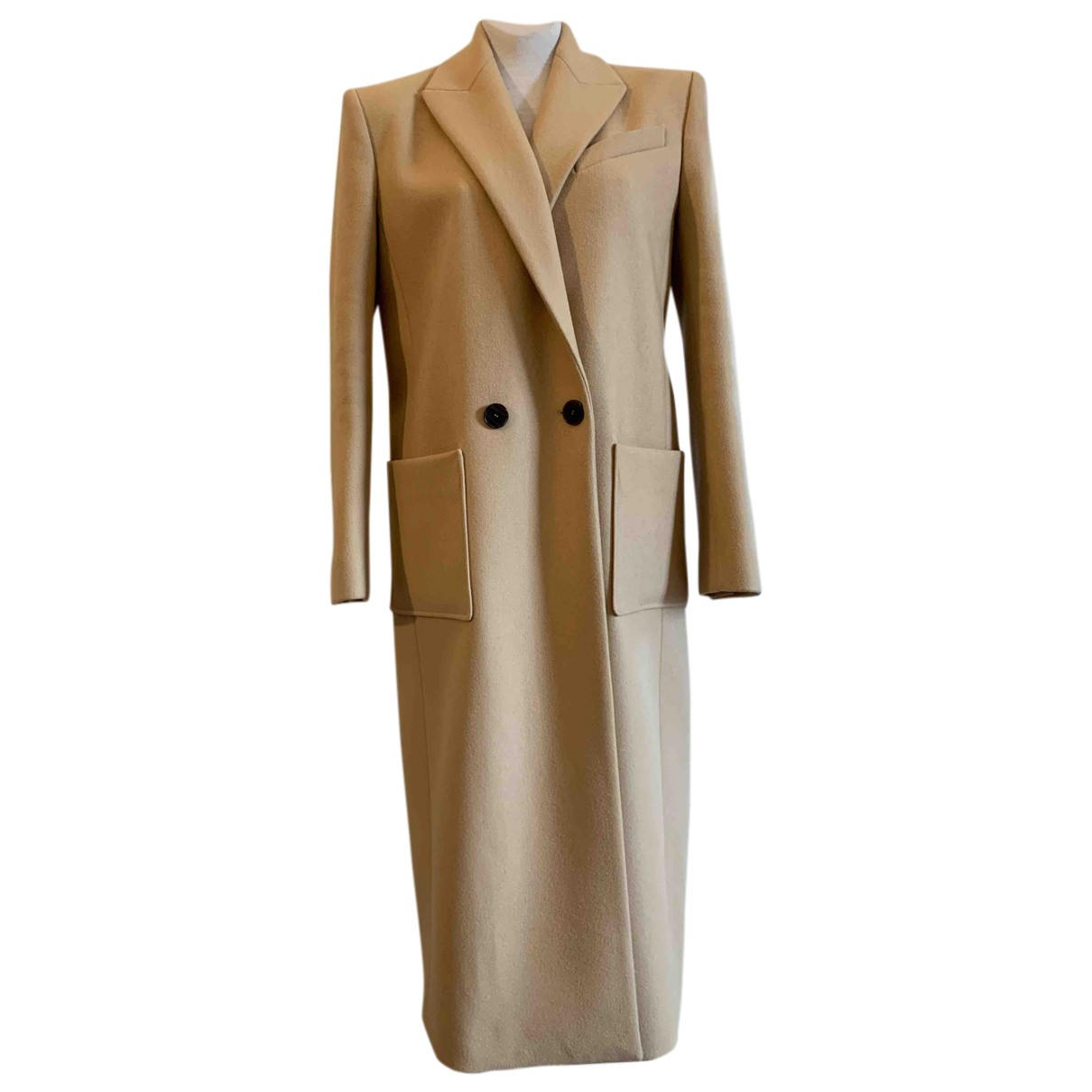 Givenchy N Camel Wool coat for Women 40 FR