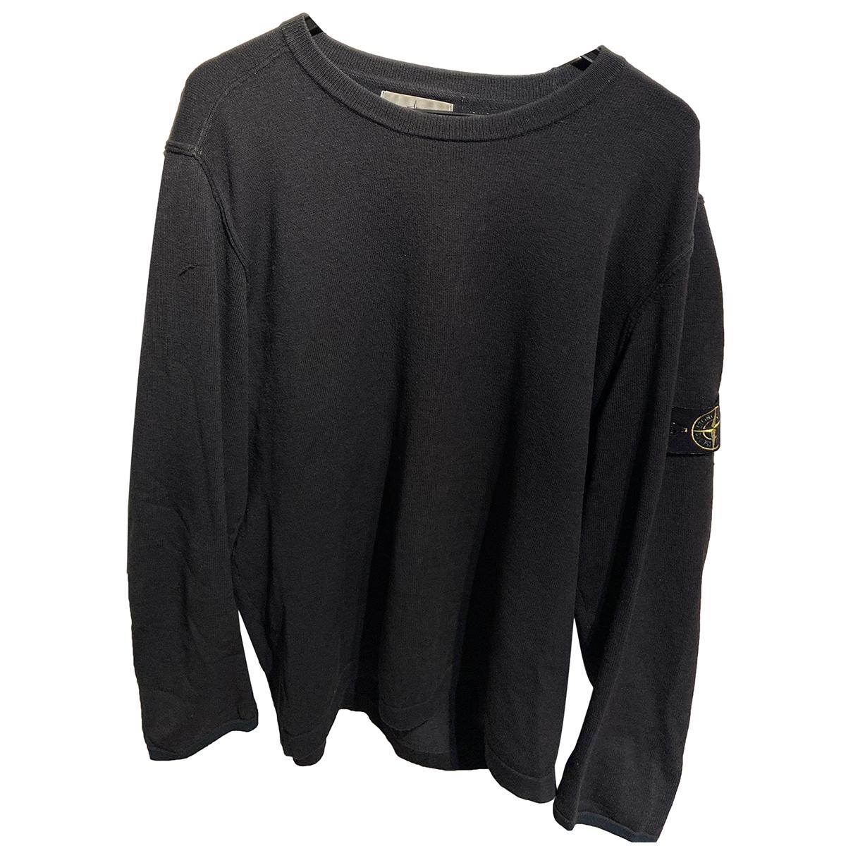 Stone Island \N Pullover.Westen.Sweatshirts  in  Gruen Wolle
