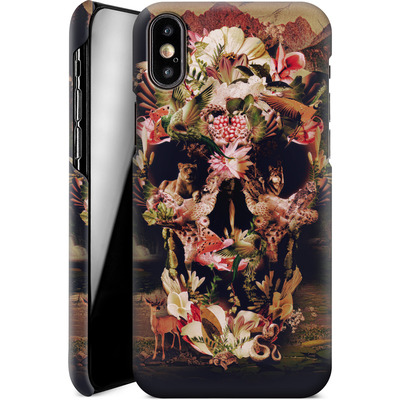 Apple iPhone XS Smartphone Huelle - Jungle Skull von Ali Gulec